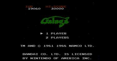 Galaga – Titelbildschirm