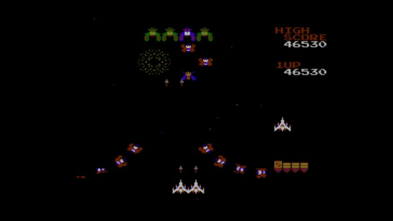 Galaga – Spielszene